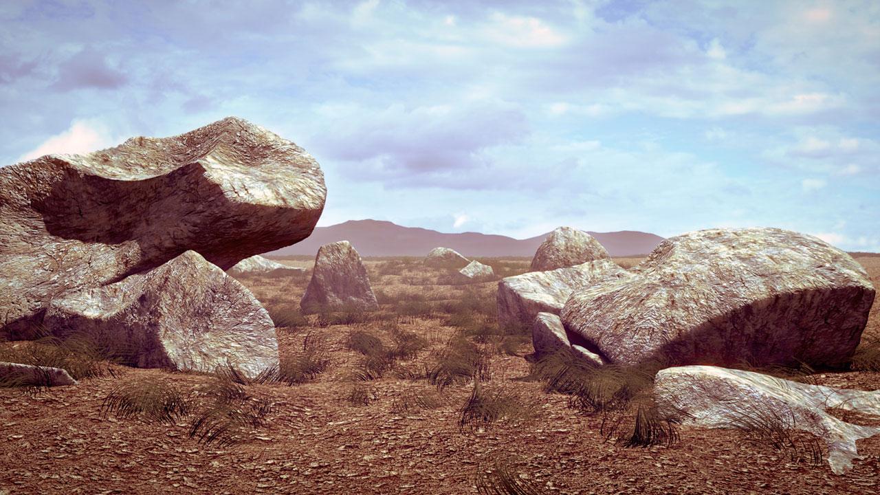 desert scene created with blender3d