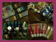 En tercer lugar, el color en mi vida, las sombras, las pinturas para las . cosas de chicas