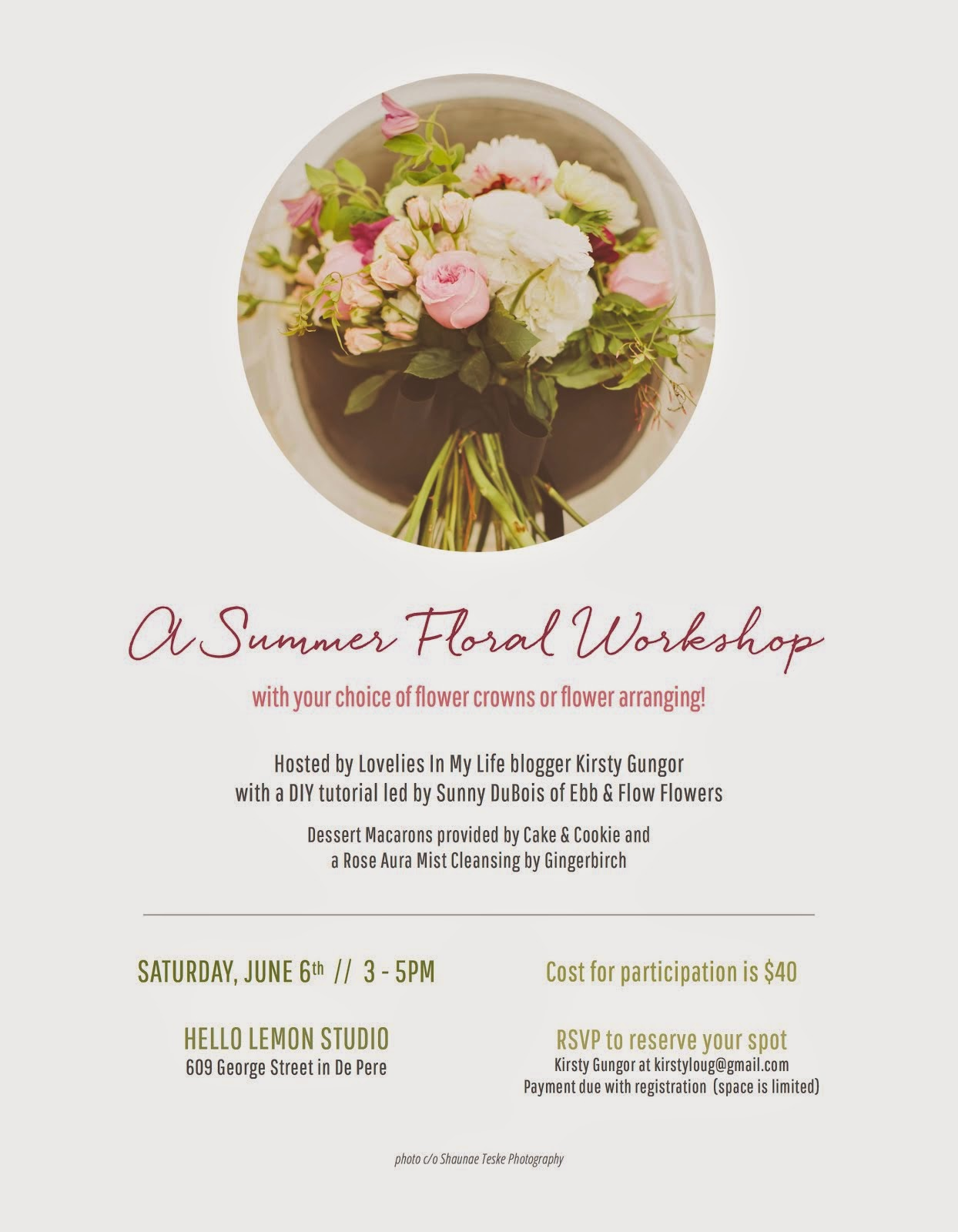 Sign Up for Our Summer Floral Workshop!