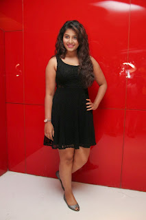 Actress Anjali Latest  Pictures in Short Dress at Kayal Movie Audio Launch  20.jpg