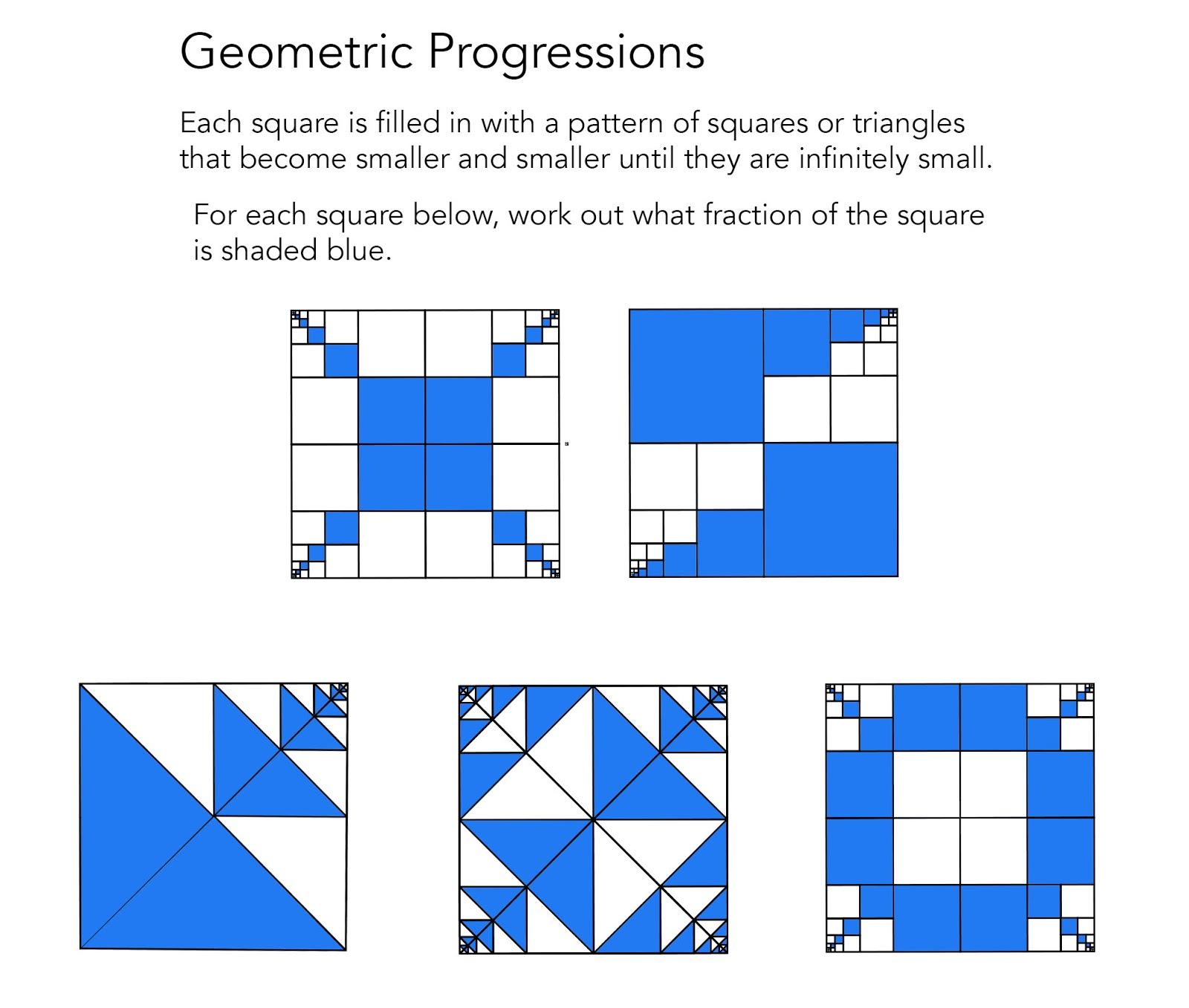 1001 Math Problems: spatial puzzles (2D)