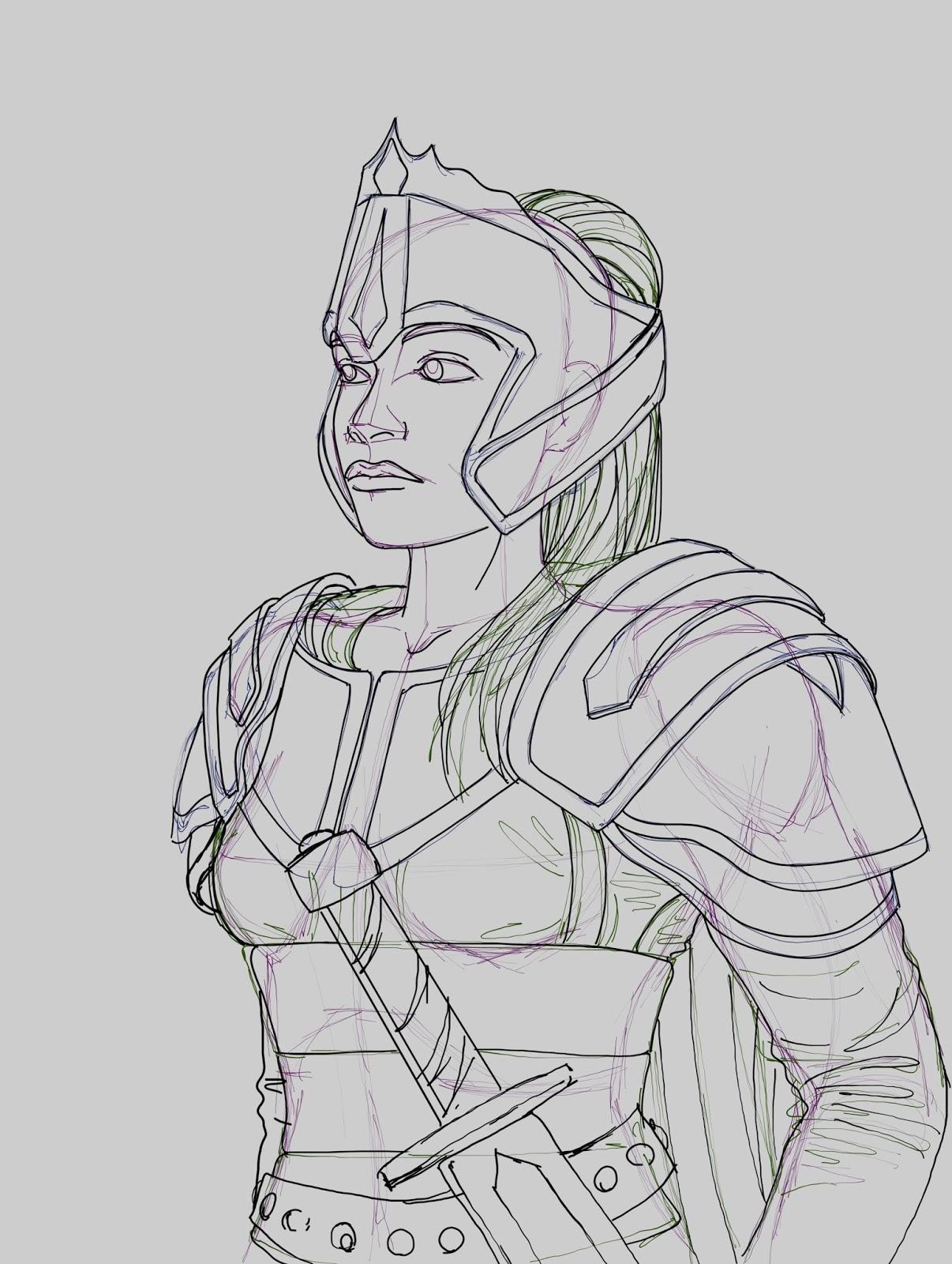 Warrior - Rough Sketch
