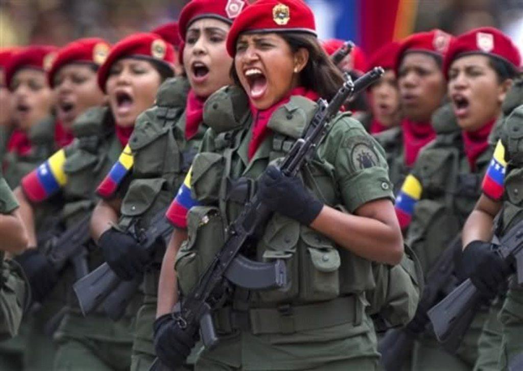 Venezuelan Army With AkS  Avtomat Kalashnikov