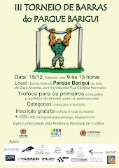 III TORNEIO DE BARRAS DO PARQUE BARIGUI - 2012