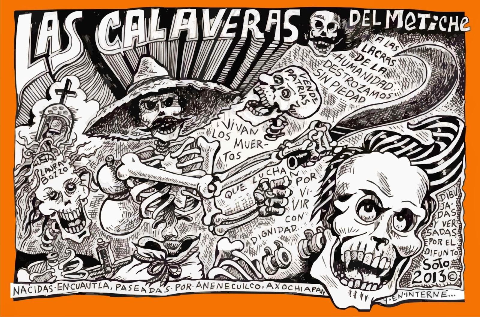 Calaveras, versos, dibujos, caricaturas politicas, de ruben eduardo