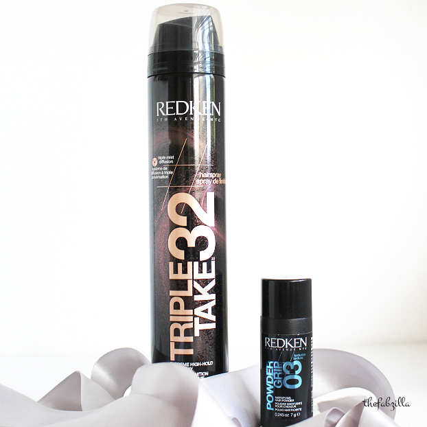redken triple take 32 hairspray review, redden powder grip 03 review