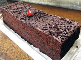 Cake Coklat Cantik Lebaran
