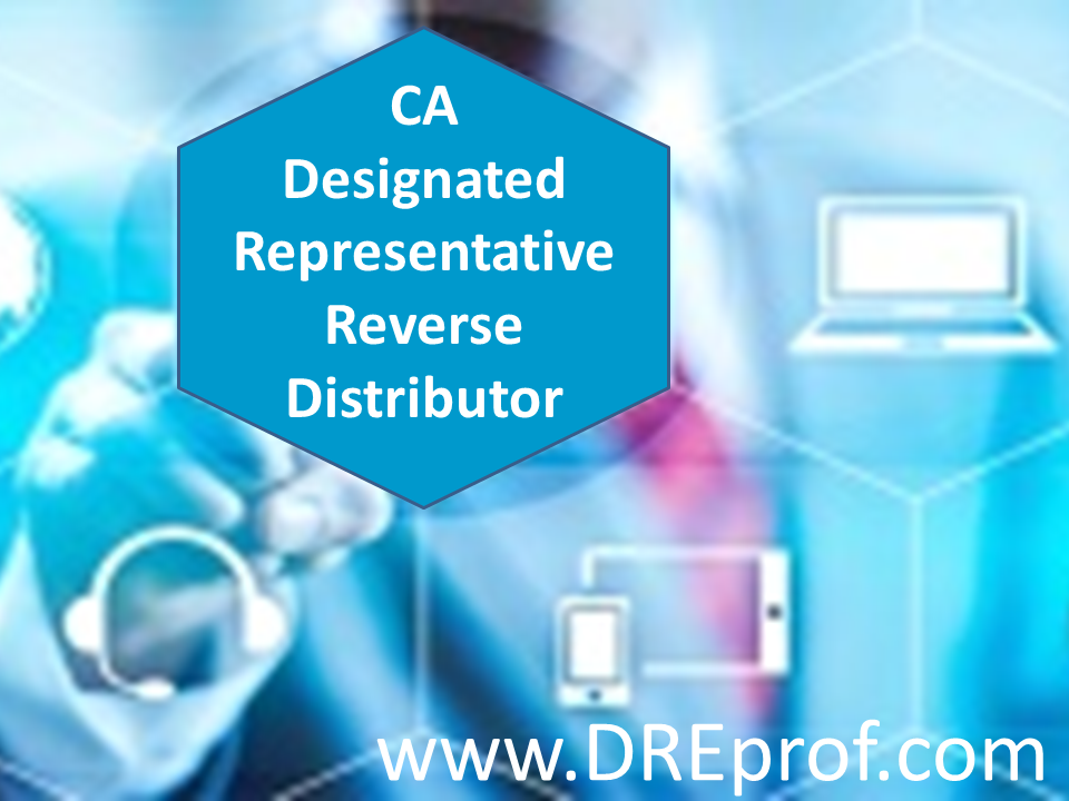 California Designated Representative Reverse Distributor