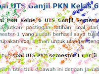 Soal UTS Ganjil PKN Kelas 6 Semester 1