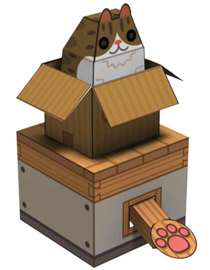 internet box cat papercraft papercraft paradise papercrafts paper models card models. Black Bedroom Furniture Sets. Home Design Ideas
