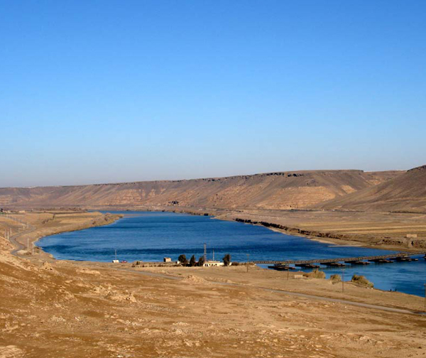 tigris river and euphrates river. tigris river and euphrates