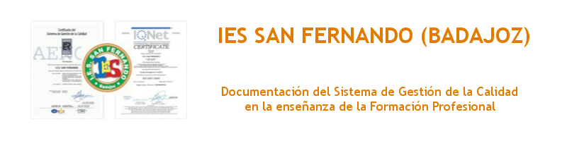 Calidad IES San Fernando (Badajoz)
