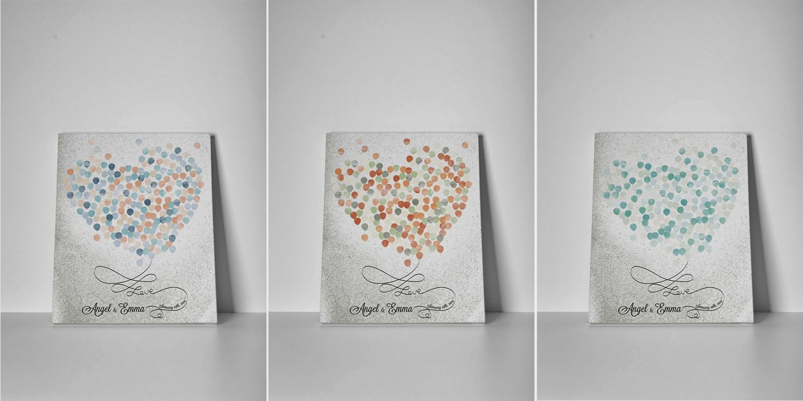 "Lovalù: ""c'è amore nell'aria"" shabby wedding guestbook nuanced ..."