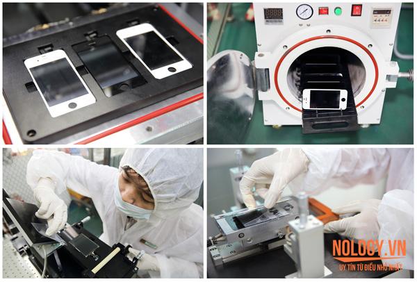 Quá trình thay mặt kính sony z2 bằng máy tự động ép chân không