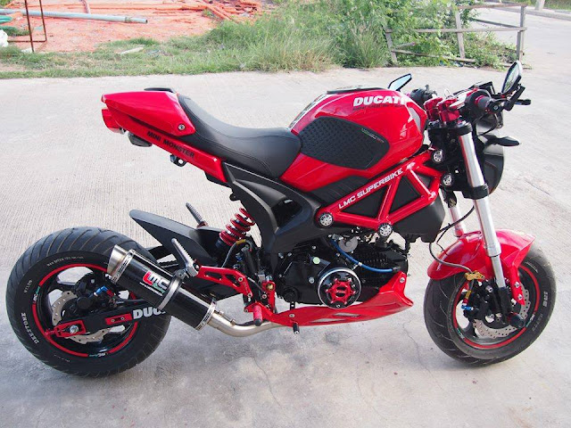 Foto Modifikasi Ducati Monster Red Cool