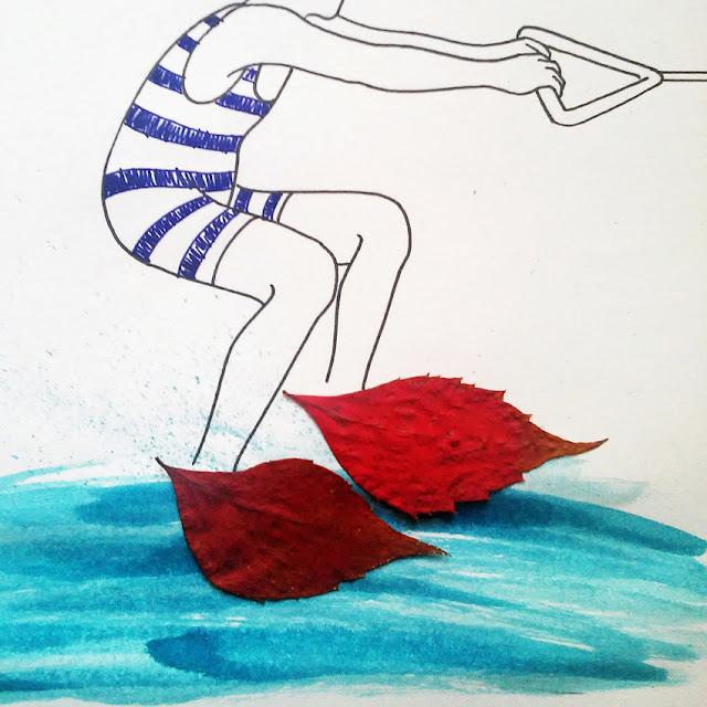Patinador en el agua