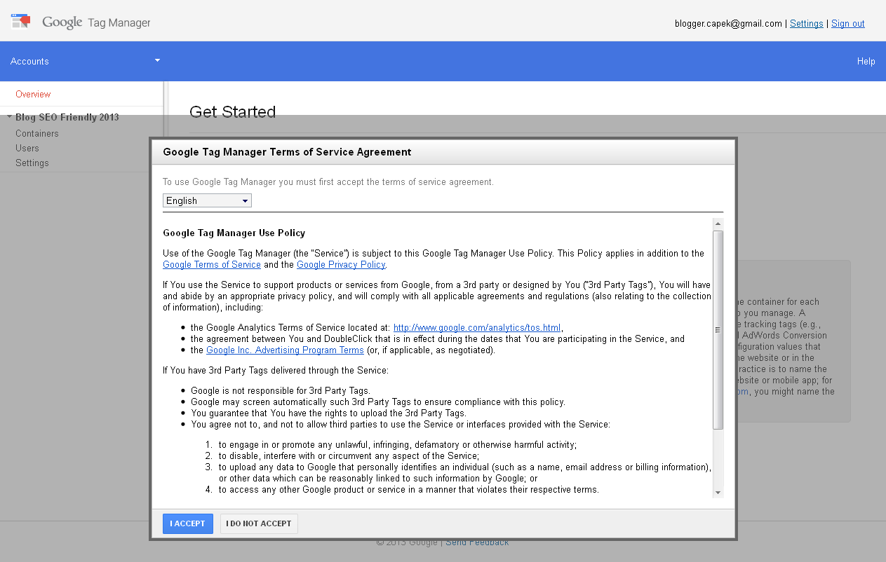 Image google tag manager tos agreement
