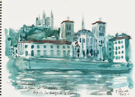 La cathédrale Saint-Jean et Fourvière