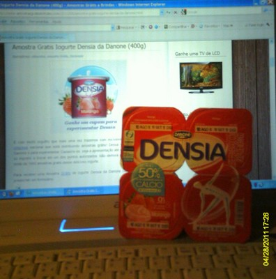 RECEBIDO : Amostra Gratis Iogurte Densia da Danone (400g)