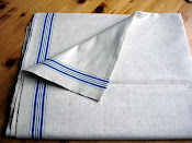 Blue Stripe Mangle Cloth