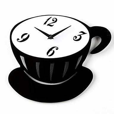 reloj de pared taza de café