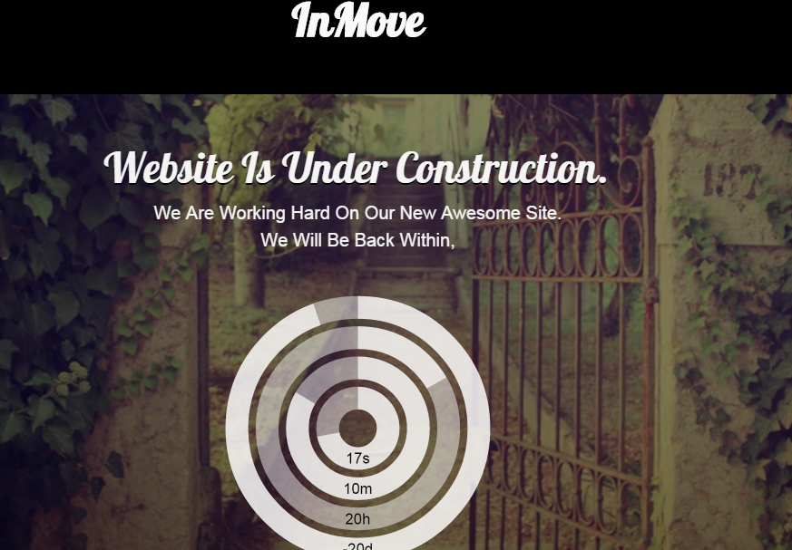 Download InMove Coming Soon Responsive Free Blogger Template