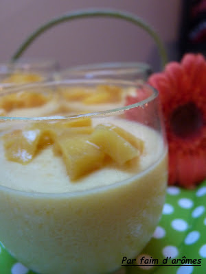 Panna Cotta light à la mangue