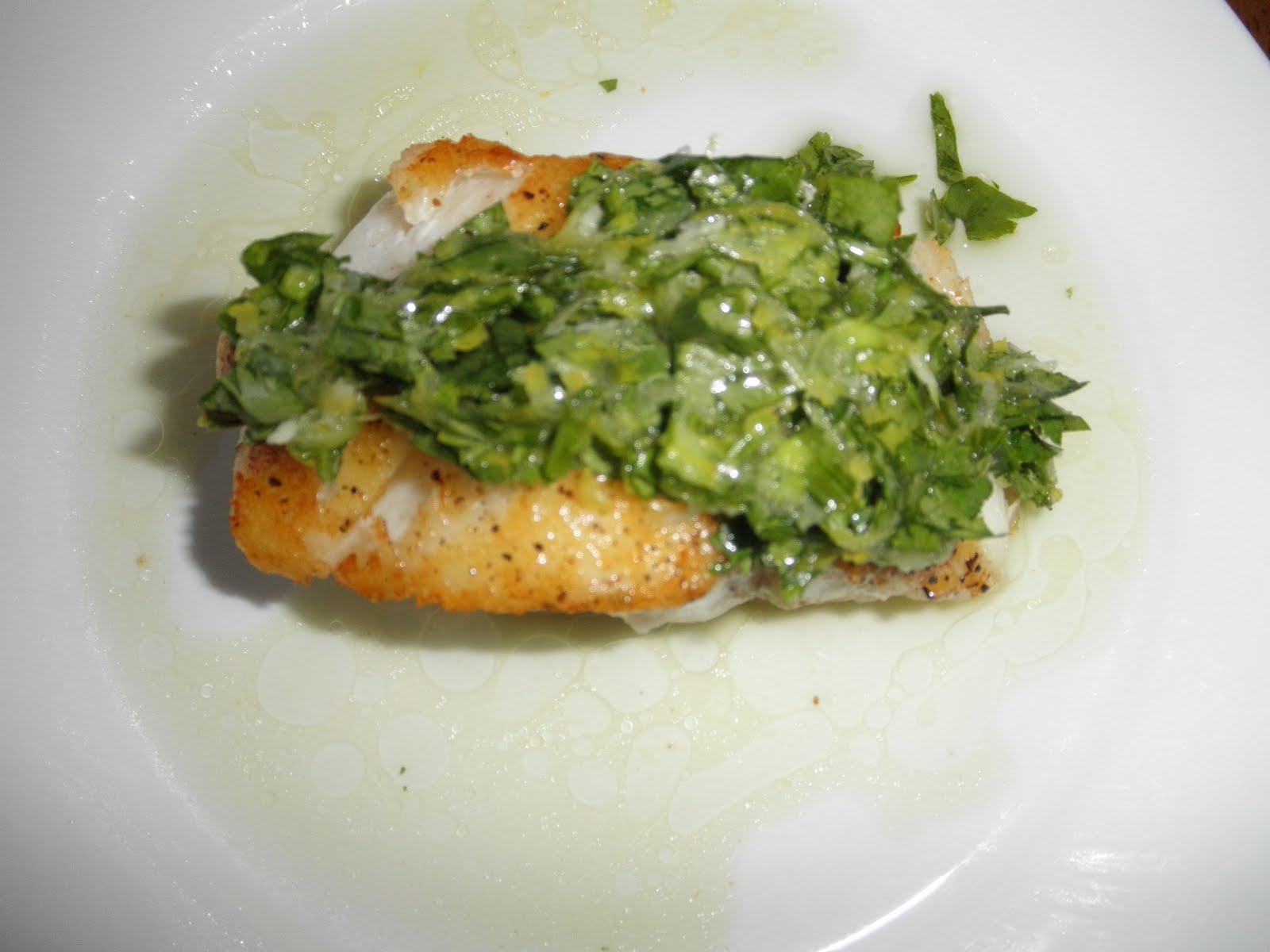 Lex 39 s life pan seared pacific cod with cilantro vinaigrette for Is cod fish kosher