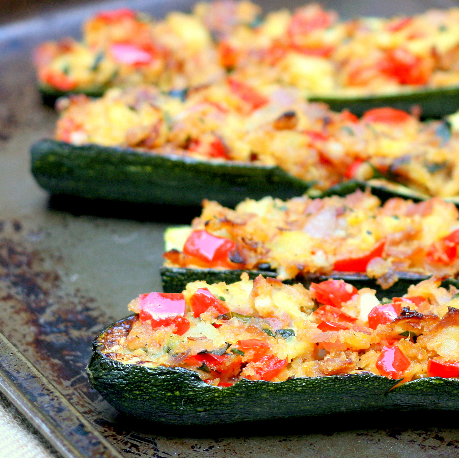 Mix it Up: Stuffed Zucchini Boats