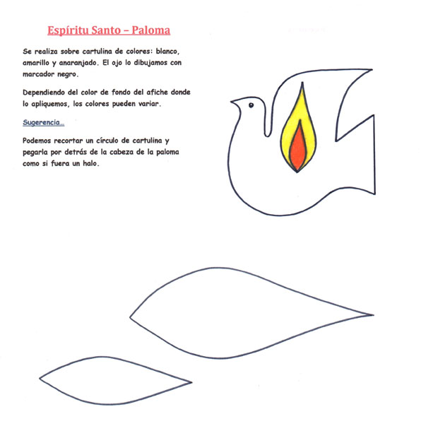 El Rincón de las Melli: Espíritu Santo para afiche