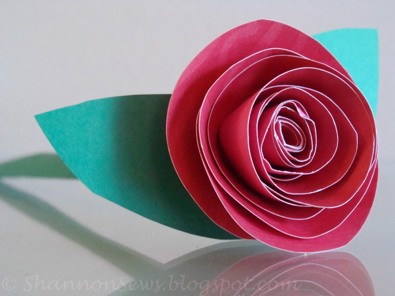 How to make a rose out of printing paper