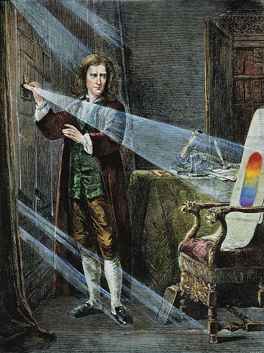 Isaac Newton Writing