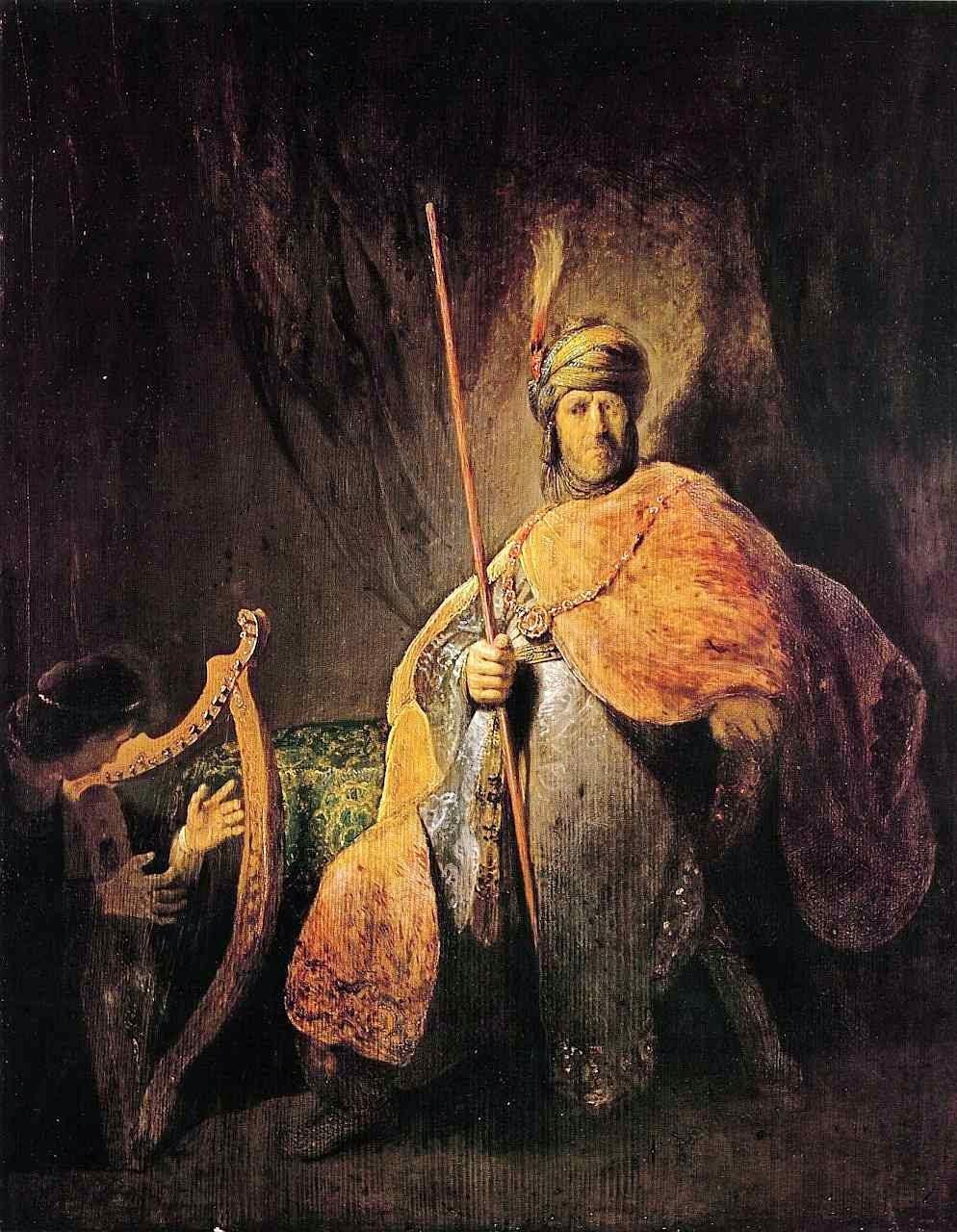 Davi aplaca Saul, Rembrandt Harmenszoon van Rijn (1606 — 1669). Städelsches Kunstinstitut und Städtische Galerie, Frankfurt am Main.