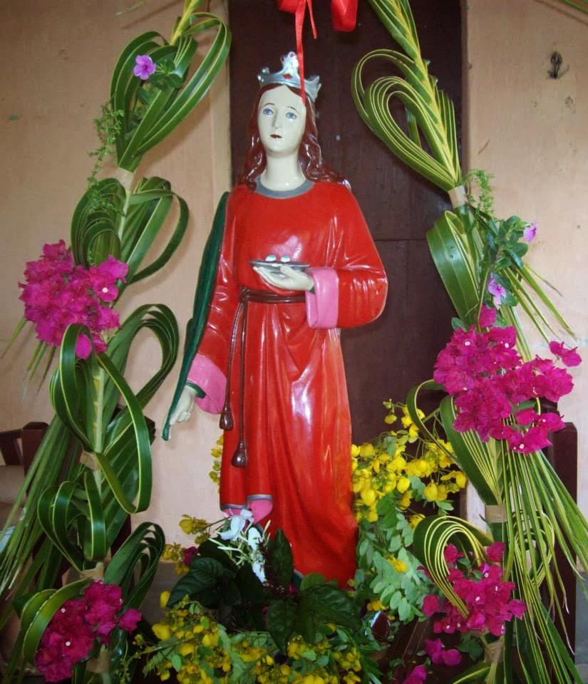 Imagens da Missa de encerramento da festa de Santa Luzia na Com. do Sitio Trincheira