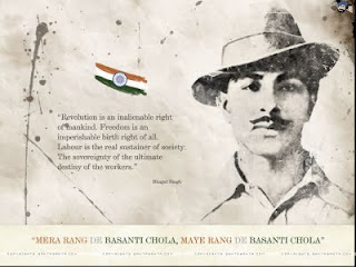 Download Shaheed Bhagat Singh Poster,he say Freedom is not Given It is Taken