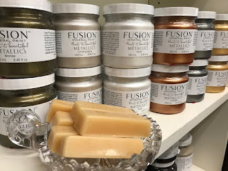 Fusion Mineral Paint Metallic Paints and Beeswax Distressing Blocks now available!