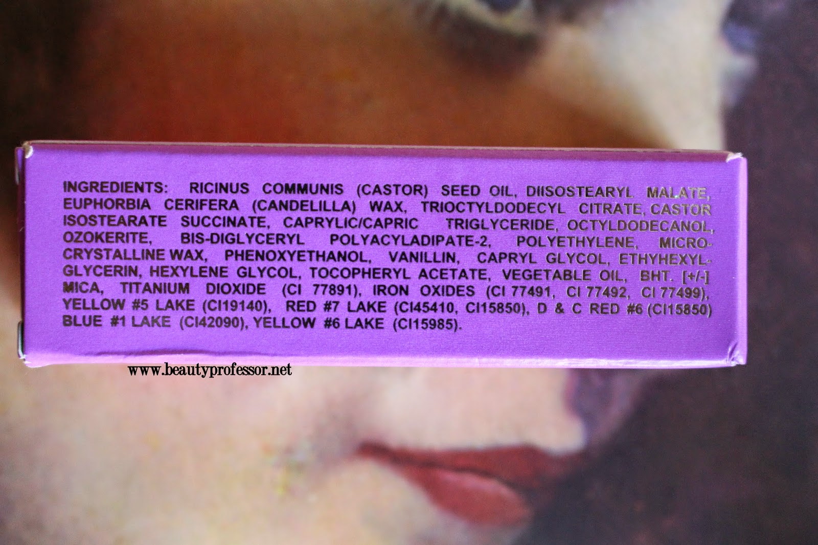 Limecrime Babette Ingredients