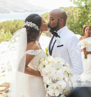 Banky W and Adesua Etomi kissing