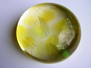 Custom Made Paperweight - Feather Paperweight