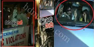 Drunk and Drive | Drunkard attacks Media Person | Hyderabad Police | 10TV