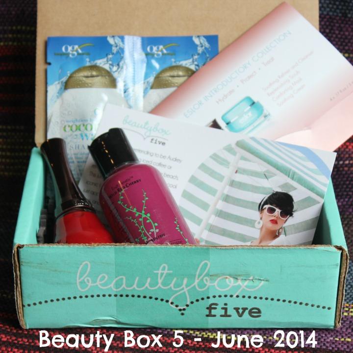 Beauty Box 5 Five - June 2014 unboxing