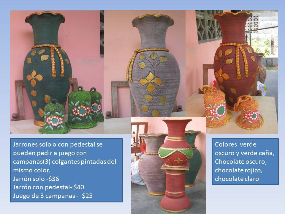 Artesanias y decoraci n jarrones decorativos for Jarrones decorativos para jardin