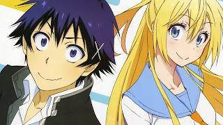 Tapeta Full HD z Raku Ichijou oraz Chitoge Kirisaki