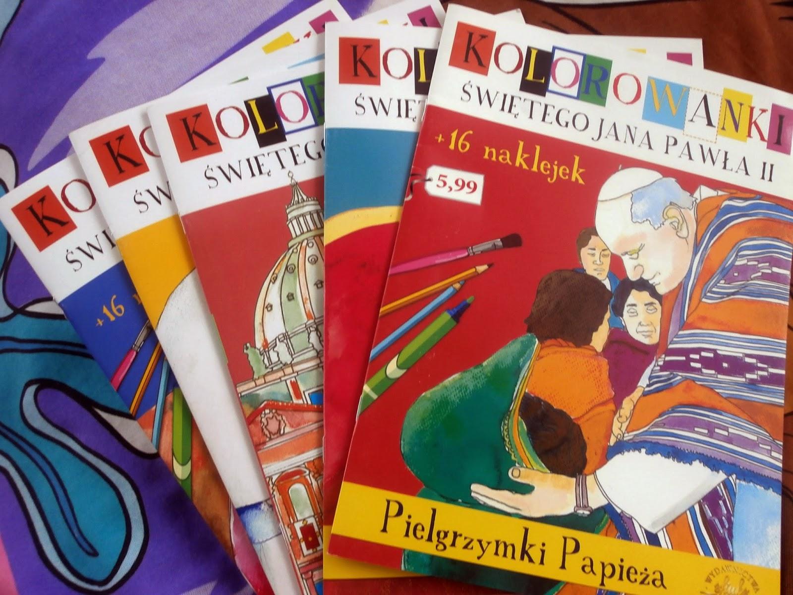 Kolorowanki papieskie z naklejkami - pakiet.