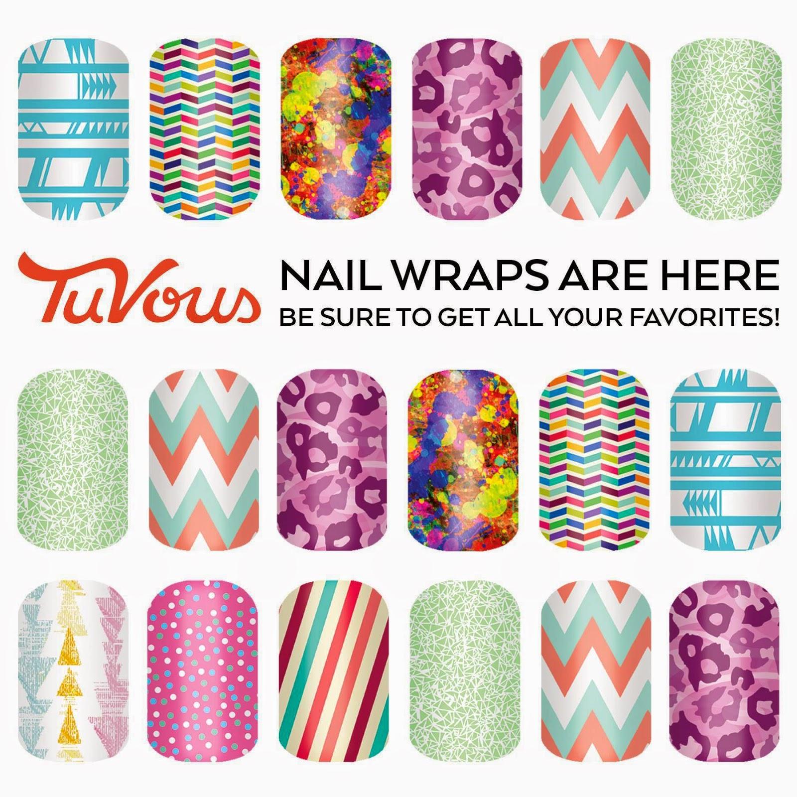 Andrea Janke Tuvous New Tuvous Nail Wraps Designs