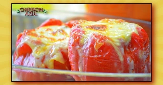 Recetas chipironazul pimientos rojos rellenos de carne con salsa bechamel - Salsa para relleno de carne ...