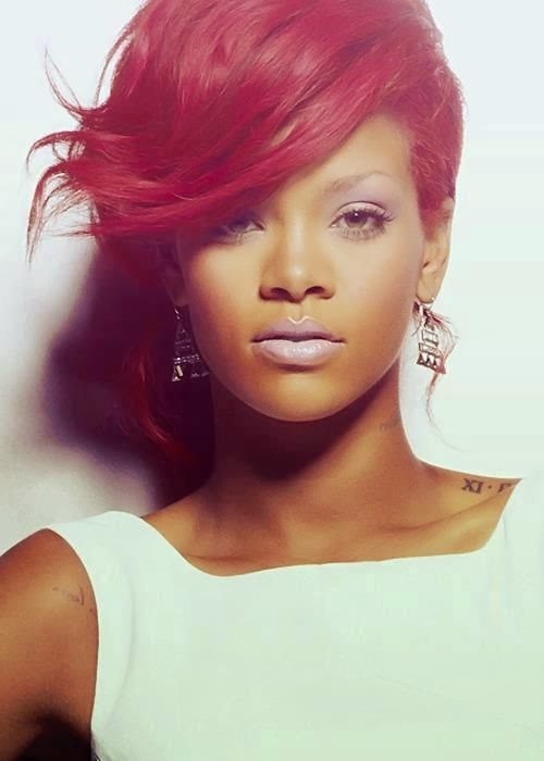 colorations, couleurs flashy et pastels, Rihanna