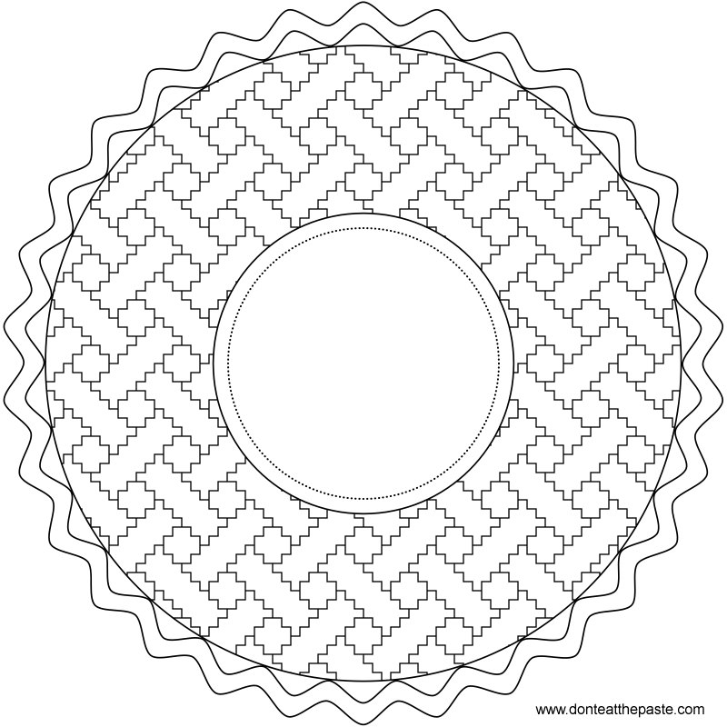 personalizable pie coloring page or embroidery pattern- also available as a transparent PNG #PiDay #coloring