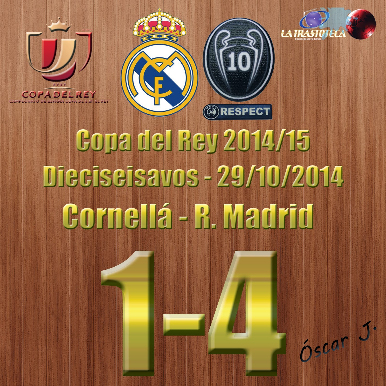 Cornellá 1-4 Real Madrid.
