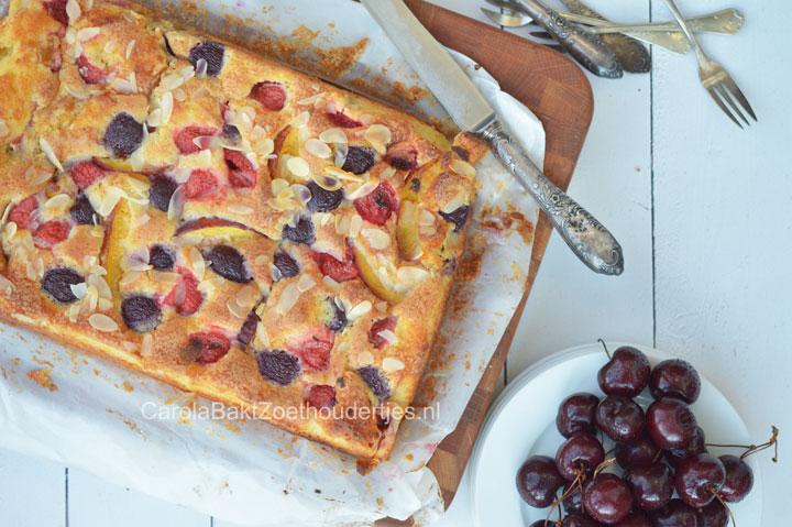 zomerfruit plaatcake met ricotta